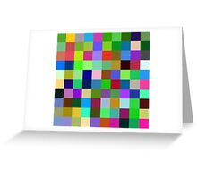 Color Squares 11 Greeting Card