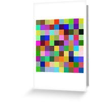 Color Squares 12 Greeting Card