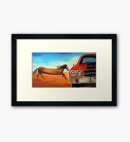 The Long Horse Framed Print