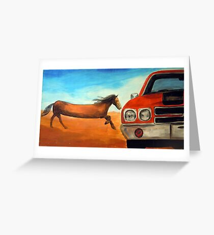 The Long Horse Greeting Card