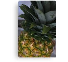 Whole Prickly Pineapple Fruit Canvas Print