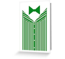 Dapper Dans (Green) Greeting Card