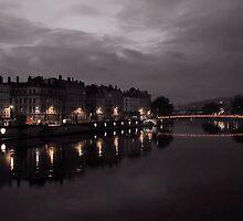 Sunrise at Saône River, Lyon, France by Soumya Mitra