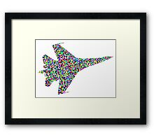 The airplane stays up because it doesn't have the time to fall Framed Print