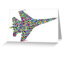 The airplane stays up because it doesn't have the time to fall Greeting Card