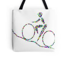 Cycling is a sport of the open road. Tote Bag