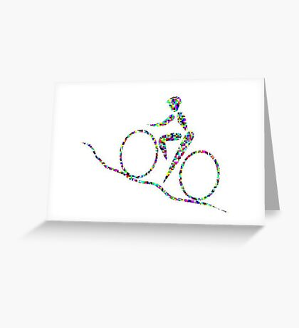 Cycling is a sport of the open road. Greeting Card
