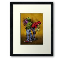 Tentacle Twins Framed Print