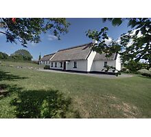 Ballyvaughan thatched cottages Photographic Print