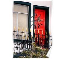 Ornate Metal Fence With Froufrou Poster