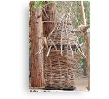 Wood Basket Metal Print