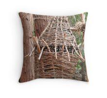 Wood Basket Throw Pillow