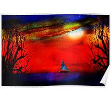 lost toy sailboat Poster