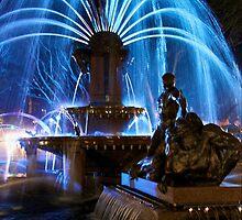 Hyde Park Fountain, Vivid Sydney by flungabunga