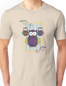 Striped Owls 2 Unisex T-Shirt