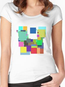 Colorful Square Women's Fitted Scoop T-Shirt