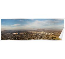 Panorama of Woden in Canberra Australia Poster