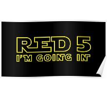 Red 5 Poster