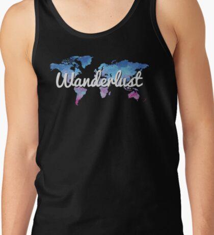 Wanderlust World Map Tank Top