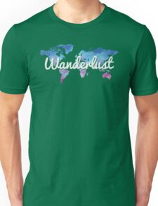 Wanderlust World Map Unisex T-Shirt