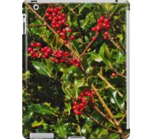 Holly with berries iPad Case/Skin