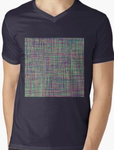 All Color lines: Red, Yellow, Green, .... Mens V-Neck T-Shirt