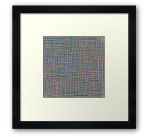 Mix of Lines, full of color Framed Print