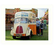 Old Ice-Cream Van: Steam Fair, Dulwich London. Art Print