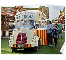 Old Ice-Cream Van: Steam Fair, Dulwich London. Poster