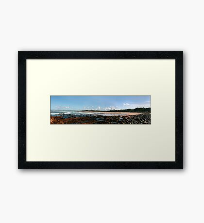 Saltwater Panorama Framed Print