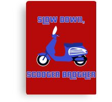Scooter Brother Canvas Print
