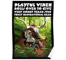 PLAYFUL VIXEN ROLLS OVER TO GIVE VERY HORNY TEXAN STUD TRULY INSPIRATIONAL HEAD Poster
