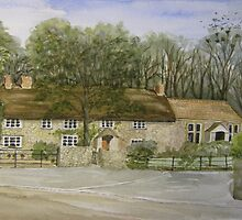 """Thatched Cottage, Uphill, Somerset"" by Timothy Smith"
