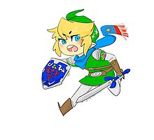 Link - Hero of Hyrule  by galaxy-cake