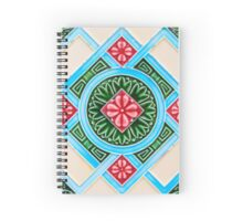 Peranakan Floral Tile Spiral Notebook