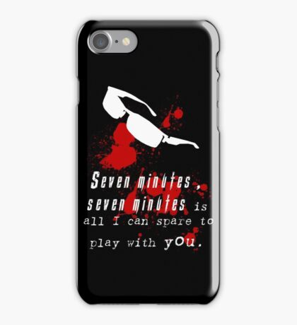 Seven Minutes , Wesker Quote iPhone Case/Skin