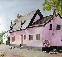 """""""Wandering Ducks"""" - Suffolk Cottage by Timothy Smith"""