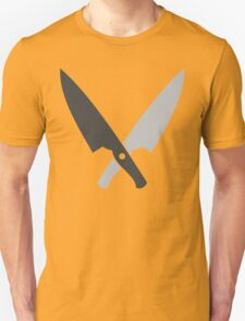 Crossed chef knives (Two knife) Unisex T-Shirt