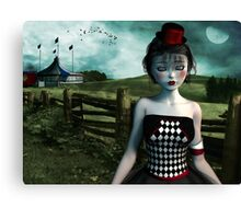Leaving the circus Canvas Print