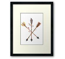 Overgrown Arrows Framed Print