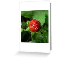 crystal strawberry:) Greeting Card