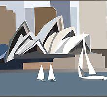 Sydney Operahouse by Jacqui Fae