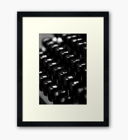 My Type Framed Print