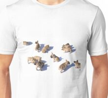 Frenchies on the move Unisex T-Shirt