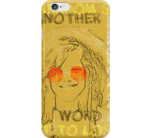 Janis Joplin Song Lyrics Bobby McGee iPhone Case/Skin