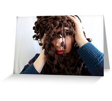 She sought truth in her eyes Greeting Card