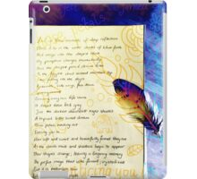 Illustrated Poetry Clothing iPad Case/Skin