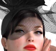 Vogue - fashion model Sticker