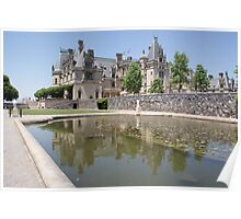Reflection of Grand Castle, Biltmore Poster