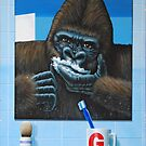 Guy the Gorilla Shaving by Andrew Aske